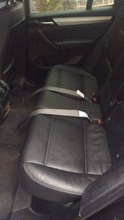 Put the back seat back with tether straps coming through the seats